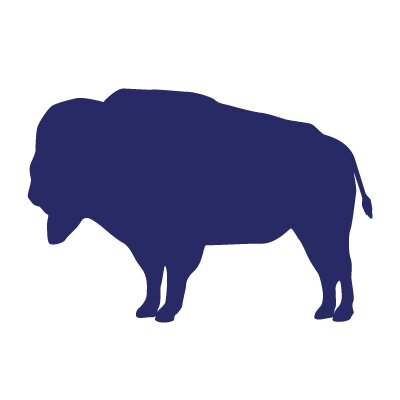 Avalisa Silhouette - Buffalo Stretched Wall Art