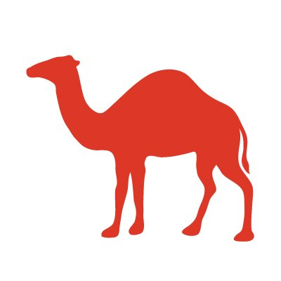 Avalisa Silhouette - Camel Stretched Wall Art