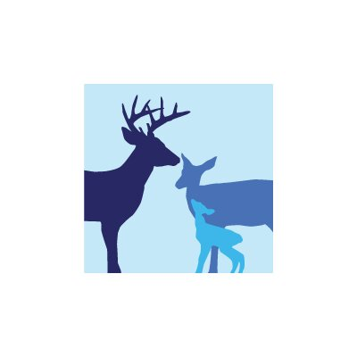 Avalisa Animal - Deer Stretched Wall Art