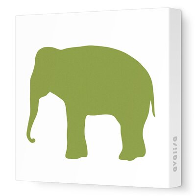 Avalisa Silhouette - Elephant Stretched Wall Art