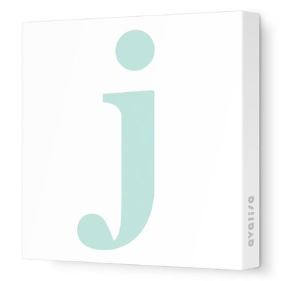 Avalisa Letter - Lower Case 'j' Stretched Wall Art