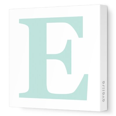 Avalisa Letter - Upper Case 'E' Stretched Wall Art