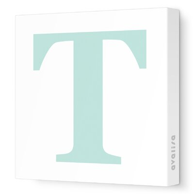 Avalisa Letter - Upper Case 'T' Stretched Wall Art