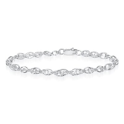 Heavy Rope Chain Bracelet Sterling Silver