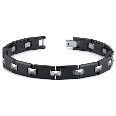 European Style Tungsten and Ceramic Link Bracelet for Men