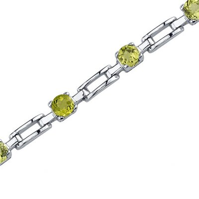 Oravo Gorgeous and Chic Round Shaped Gemstone Bracelet in Sterling Silver