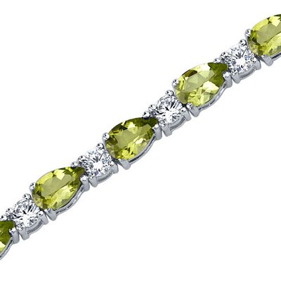 Perfect Allure Pear Shape Gemstone Bracelet in Sterling Silver