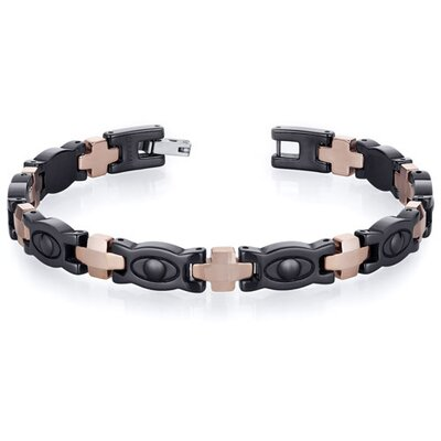 Suave Mens Tungsten Ceramic Copper Tone Eyeball Link Bracelet
