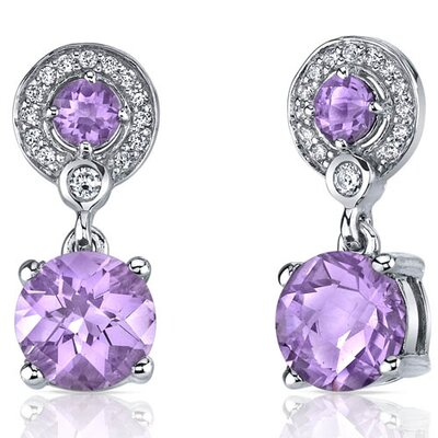 Refined Elegance 4.00 Carats Gemstone Dangle Earrings in Sterling Silver
