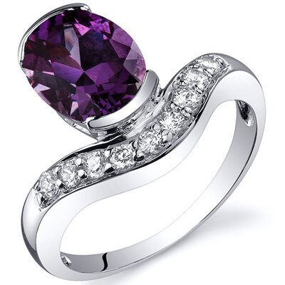 Channel Set 2.75 carats Diamond CZ Ring in Sterling Silver