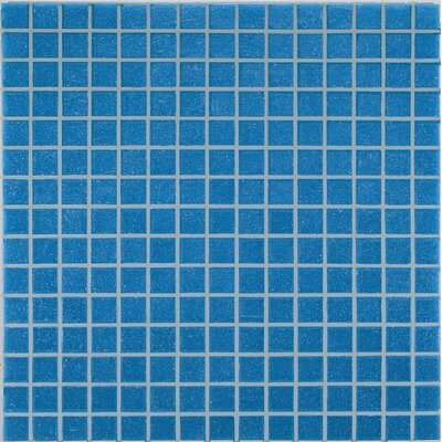 "Casa Italia Project Base 13"" x 13"" Glass Mosaic in Blue Basic"