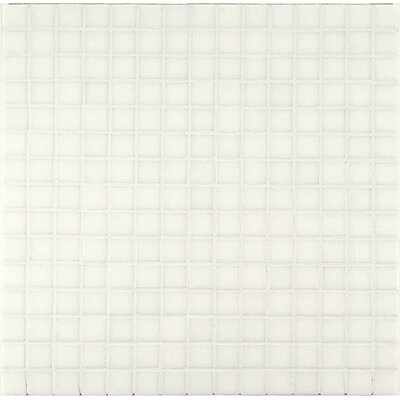 "Casa Italia Project Base 3/4"" x 3/4"" Glass Mosaic in White Basic"