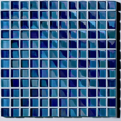 "Casa Italia Metallica 11.75"" x 11.75"" Glass Mosaic in Mix Metallica Azzurro"