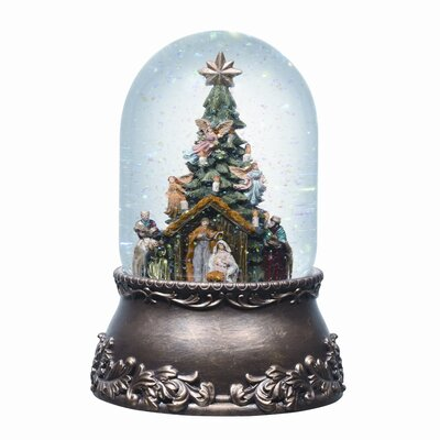 Roman, Inc. Musical Glitterdome Nativity with Tree