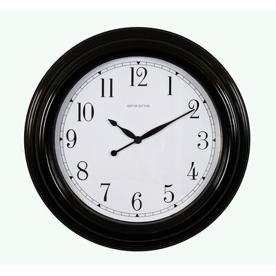 Ashton Sutton Indoor/Outdoor Clock in Black Gloss
