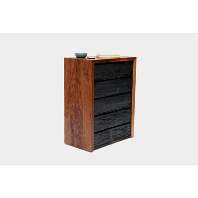 ARTLESS SQR Distressed 5 Drawer Chest
