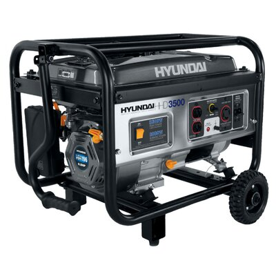 3,500 Watt Portable Heavy Duty Power Gasoline Generator - HHD3500