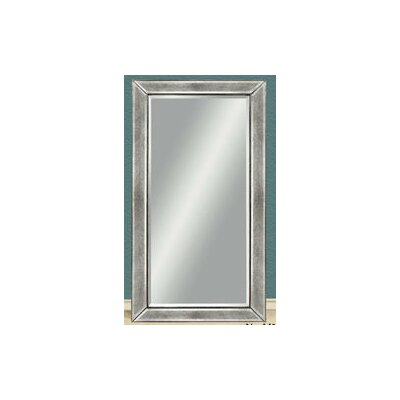 Beaded Wall Mirror - Silver Leaf