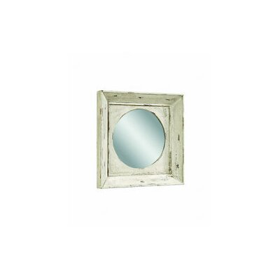 Alston Wall Mirror - Rusticated White