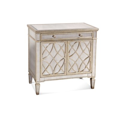 Bassett Mirror Borghese Mirrored Door 1 Drawer Chest