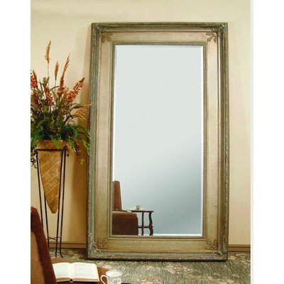 Bassett Mirror Prazzo Leaner Mirror - Antique Silver