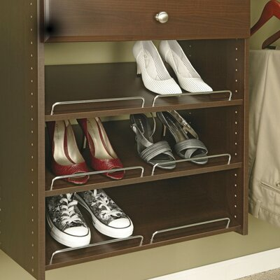 Easy Track Closet Organizers 3 Count Truffle Shoe Shelves