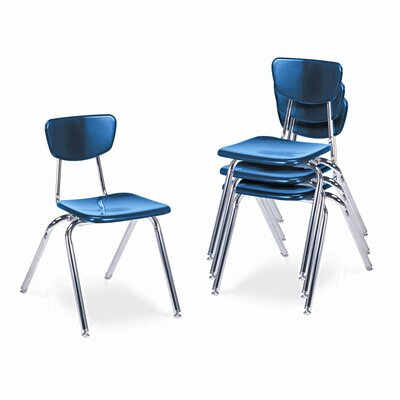 "Virco 3000 Series 18"" Plastic Classroom Stackable Chair"