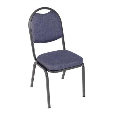 "Virco Charcoal Black Stacking Chair with 2"" Crown Seat"