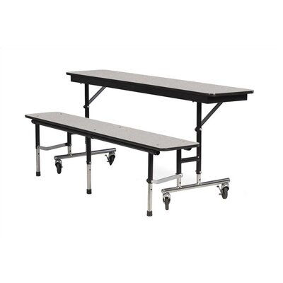 Virco Convertible Bench Table with Sure Edge Finish