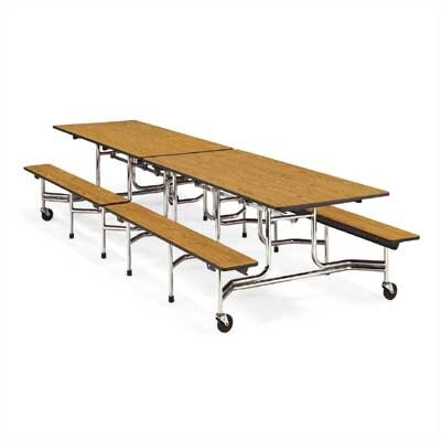 "Virco Bench Table with T-Mold Edge (17""H x 8""L)"