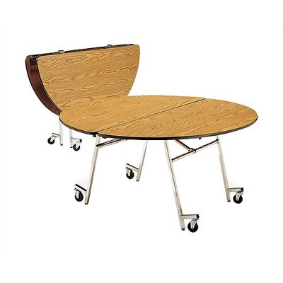 "Virco 72"" Round Mobile ContourFold Table with T-mold Edge"