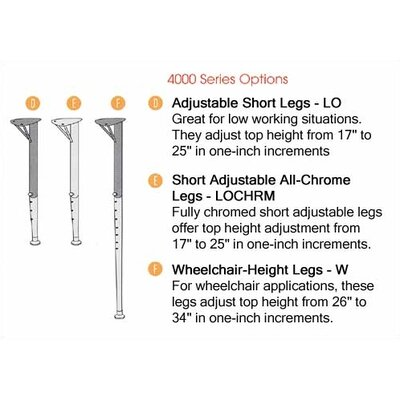 "Virco 4000 Series Activity Table Fully Chrome Short Legs (30"" x 60"")"