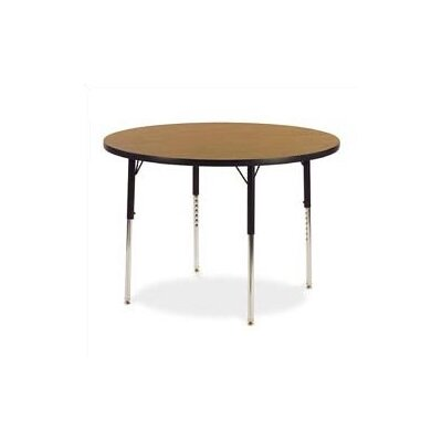 Virco 4000 Series 48&quot; Round Activity Table with Fully Chrome Short Legs