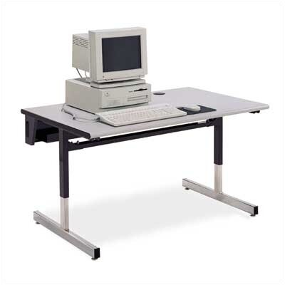 "Virco Future Access Half Round Computer Table (24"" x 48"")"