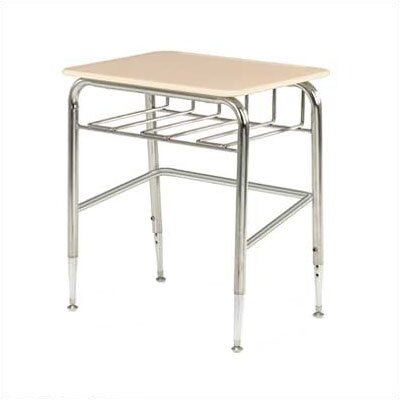 Virco Plastic Student Desk with Bookrack