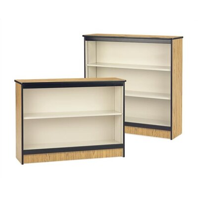 "Virco 36"" H Steel Frame Bookcase with Laminated Surface"