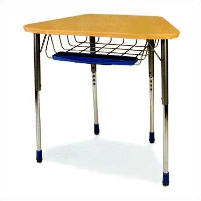 Virco Zuma Plastic Trapezoid Desk