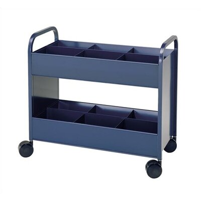 Virco Utility Cart 2 Shelves with 6 Bins