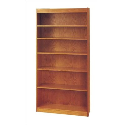 Virco 72&quot; H Six Shelf Bookcase in Oak