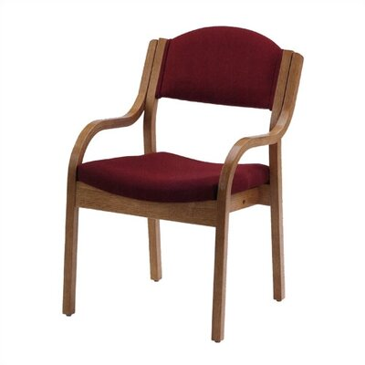 Virco Wood Stack Chair with Arms