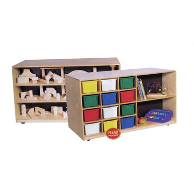 Virco Double-Sided Mobile Storage Unit with Assorted Trays