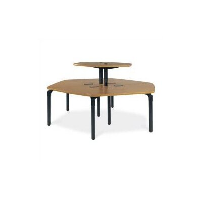 "Virco Single Technology Table (42"" x 96"") with Top Shelf"