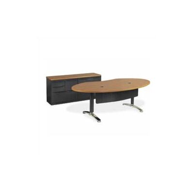 Virco Plateau 72&quot; W Ellipse Office Writing Desk with Bi-Point Legs