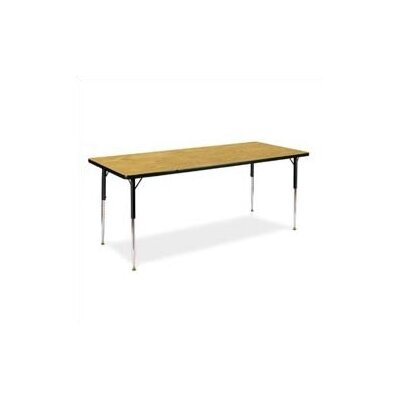 "Virco 4000 Series Rectangular Activity Table (17"" - 25"" Short Adjustable Legs)"