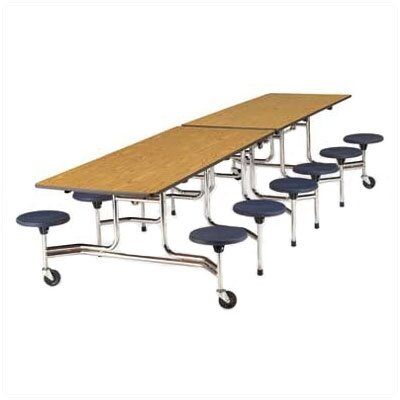 "Virco Stool Table with T-Mold Edge and 17"" High Stools"