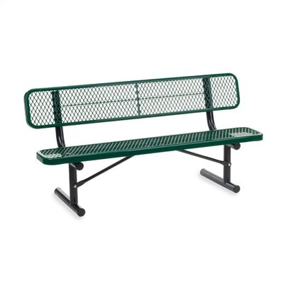 Virco Outdoor Metal and Plastic Garden Bench