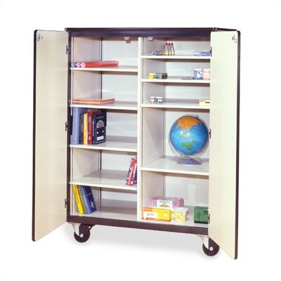 "Virco 66"" H Mobile Storage Cabinet with 8 Adjustable Shelves"
