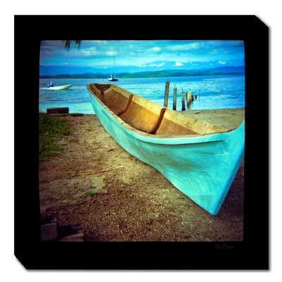 West of the Wind Outdoor Canvas Art Blue Boat Outdoor Canvas Art