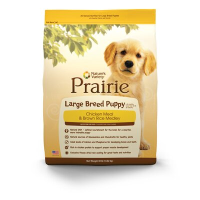 Prairie Large Breed Puppy Chicken Meal and Brown Rice Medley Dry Dog Food