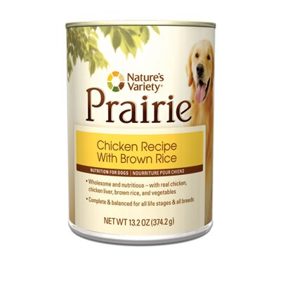 Nature's Variety Prairie Chicken Recipe with Brown Rice Canned Dog Food (13.2-oz, case of 12)